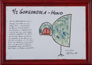 Halber Gorgonzola-Hund